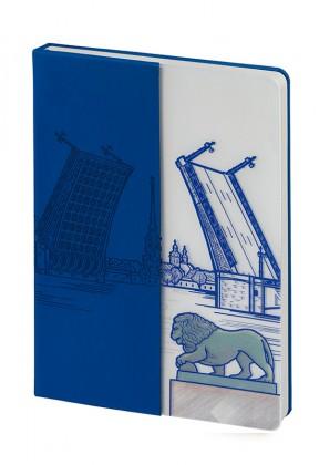 Блокнот «Города. Санкт-Петербург», синий
