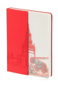 Блокнот «Города. Москва», красный