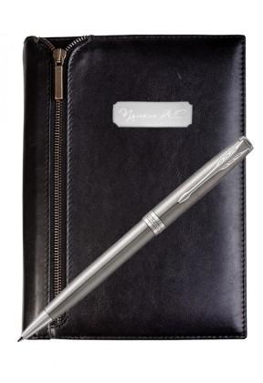 Подарочный набор VIP Ежедневник и ручка Parker Sonnet Stainless Steel CT